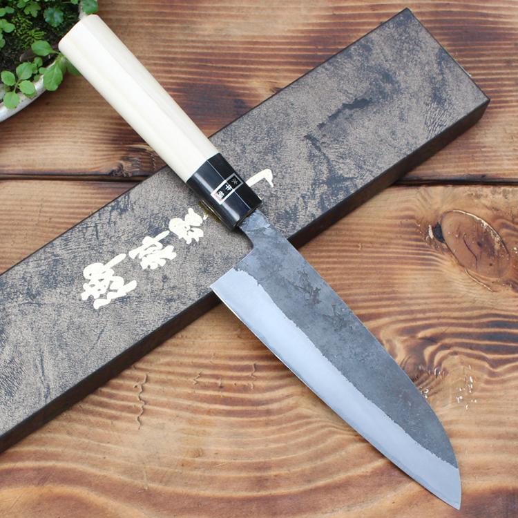 Dao Nhật Musashi Santoku 165mm Thép Aogami 2 Ốp Chống Gỉ