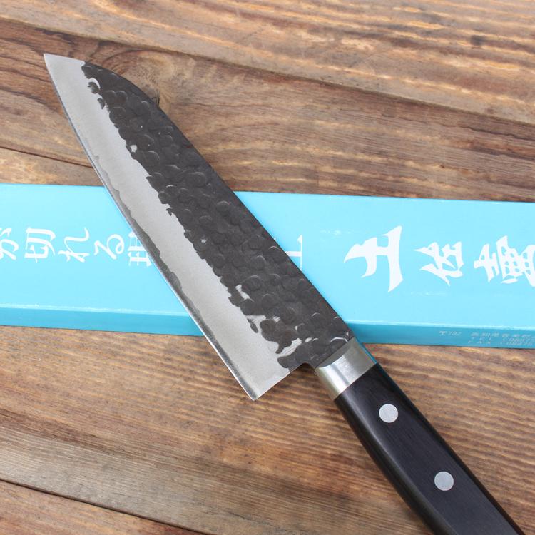 Dao Nhật Tsuboya Santoku 170mm Thép Giấy Xanh