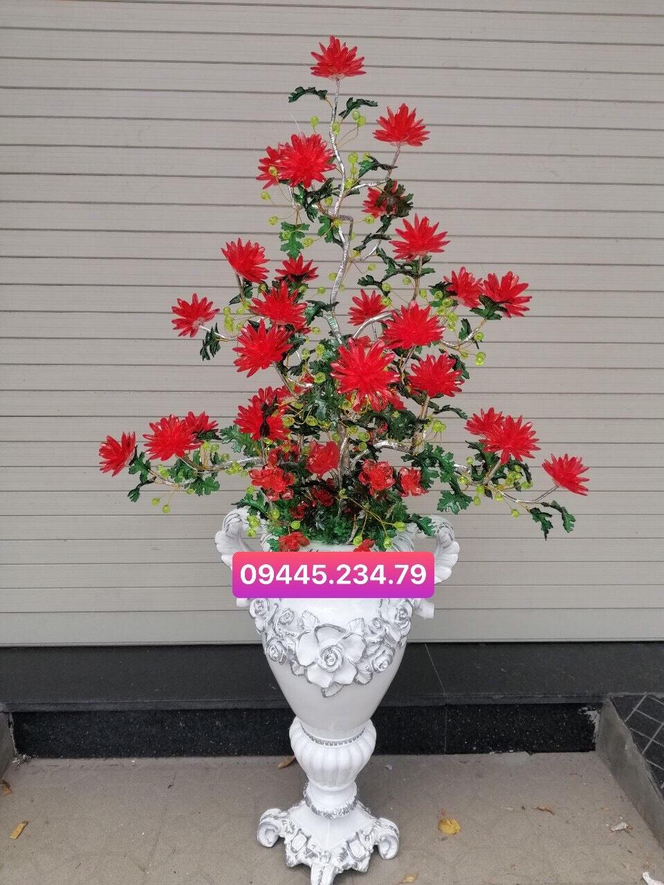 Hoa Pha Lê Cúc Đỏ/Nhã Đan Shop