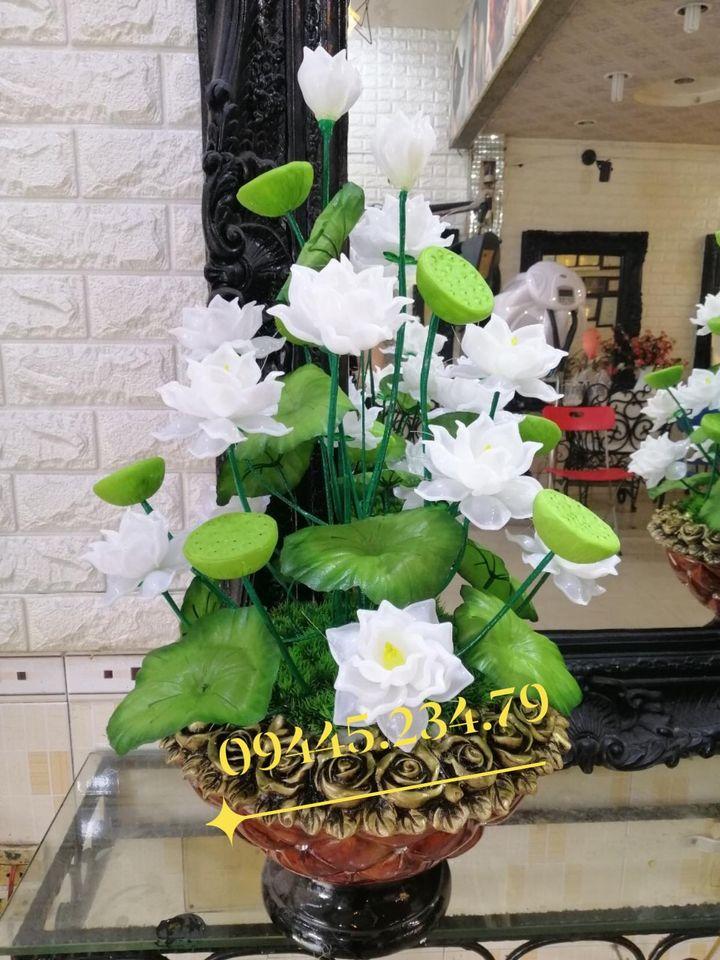 Hoa Pha Lê Sen Trắng/Nhã Đan Shop