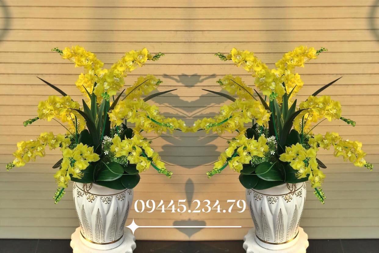 Hoa Pha Lê Phong Lan Vàng/Nhã Đan Shop