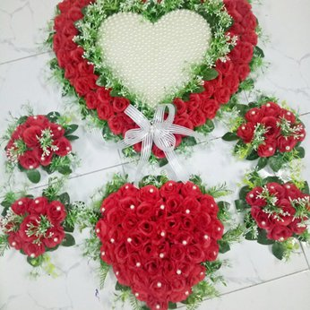 Hoa trang trí xe hoa