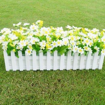 Hàng rào hoa lụa