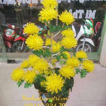 Hoa Pha Lê Cúc Vàng