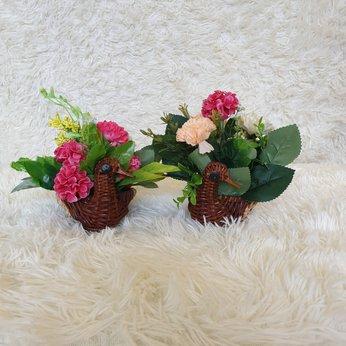 Cặp giỏ hoa treo tường