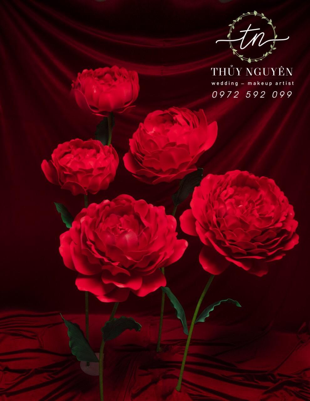 Hoa Mẫu Đơn Đỏ/ Nhã Đan Shop