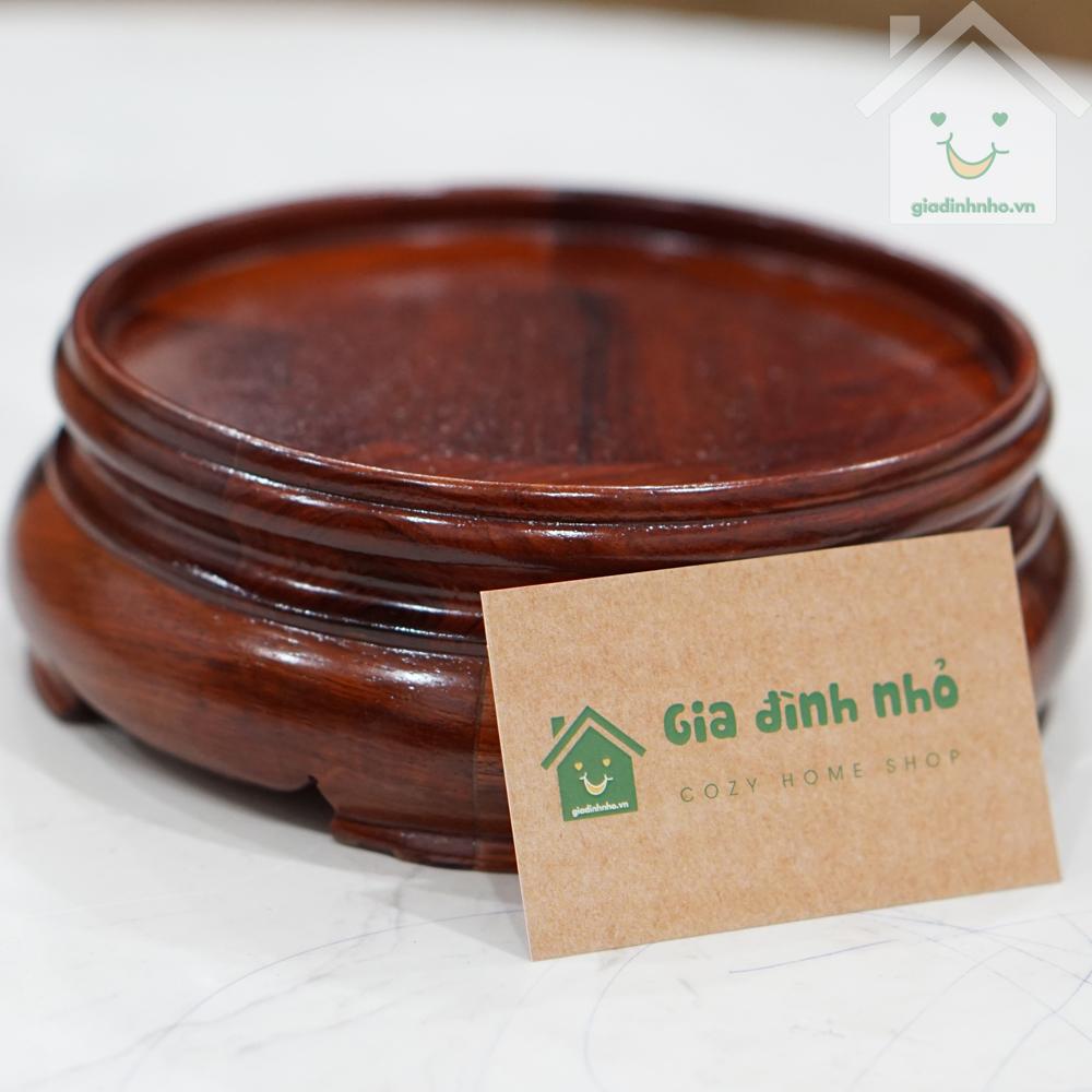 Bình Hút Lộc Size 28 - Đế Gỗ Hương