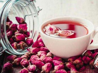 Hoa hồng khô mix gừng mật ong, giữ ấm cơ thể, dáng đẹp da xinh