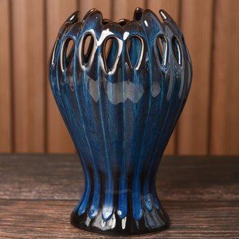 Lọ Hoa Bát Tràng Hỏa Biến Bàn Tay S4 (Cao ~18cm)