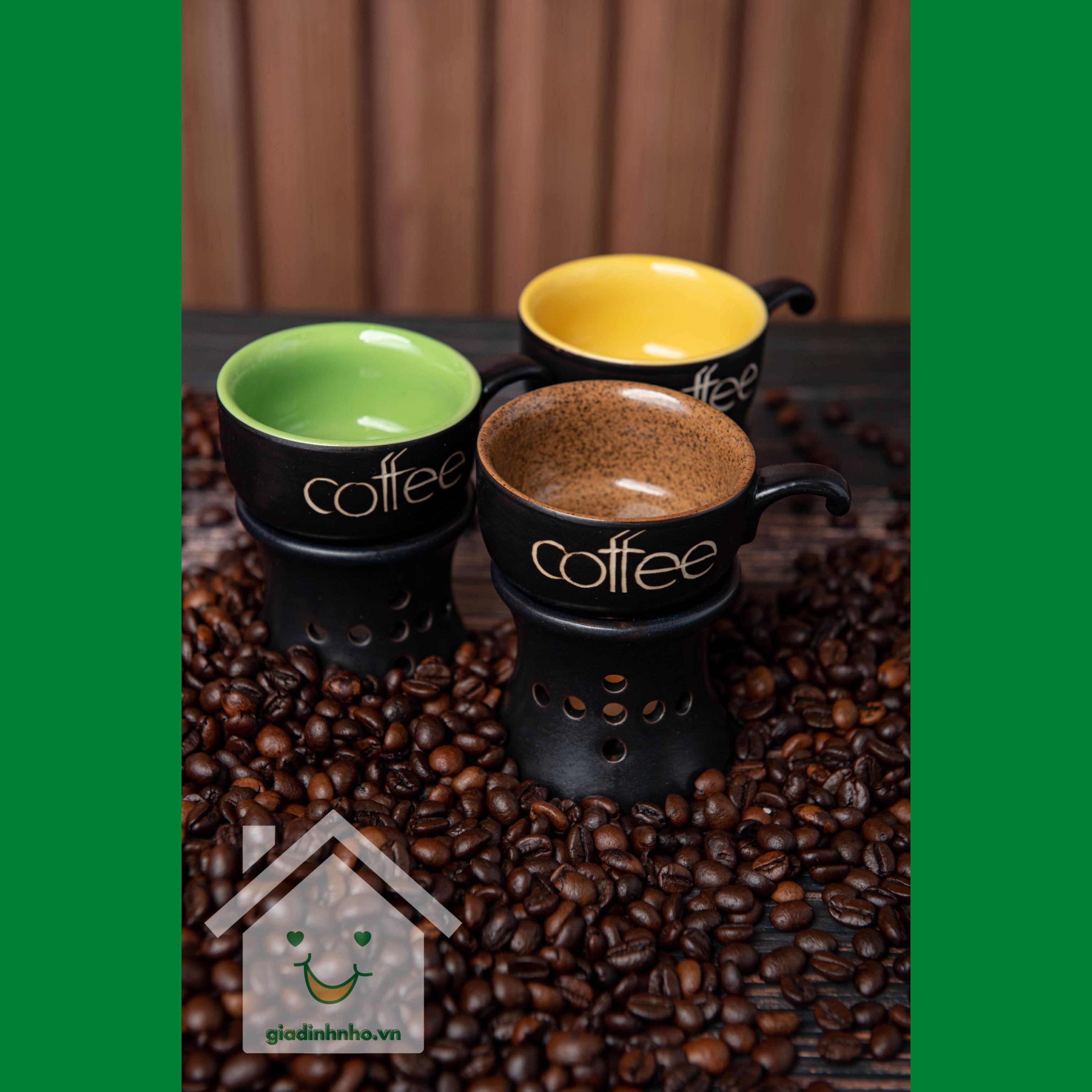 Bộ Cốc Cafe - Bếp Thấp