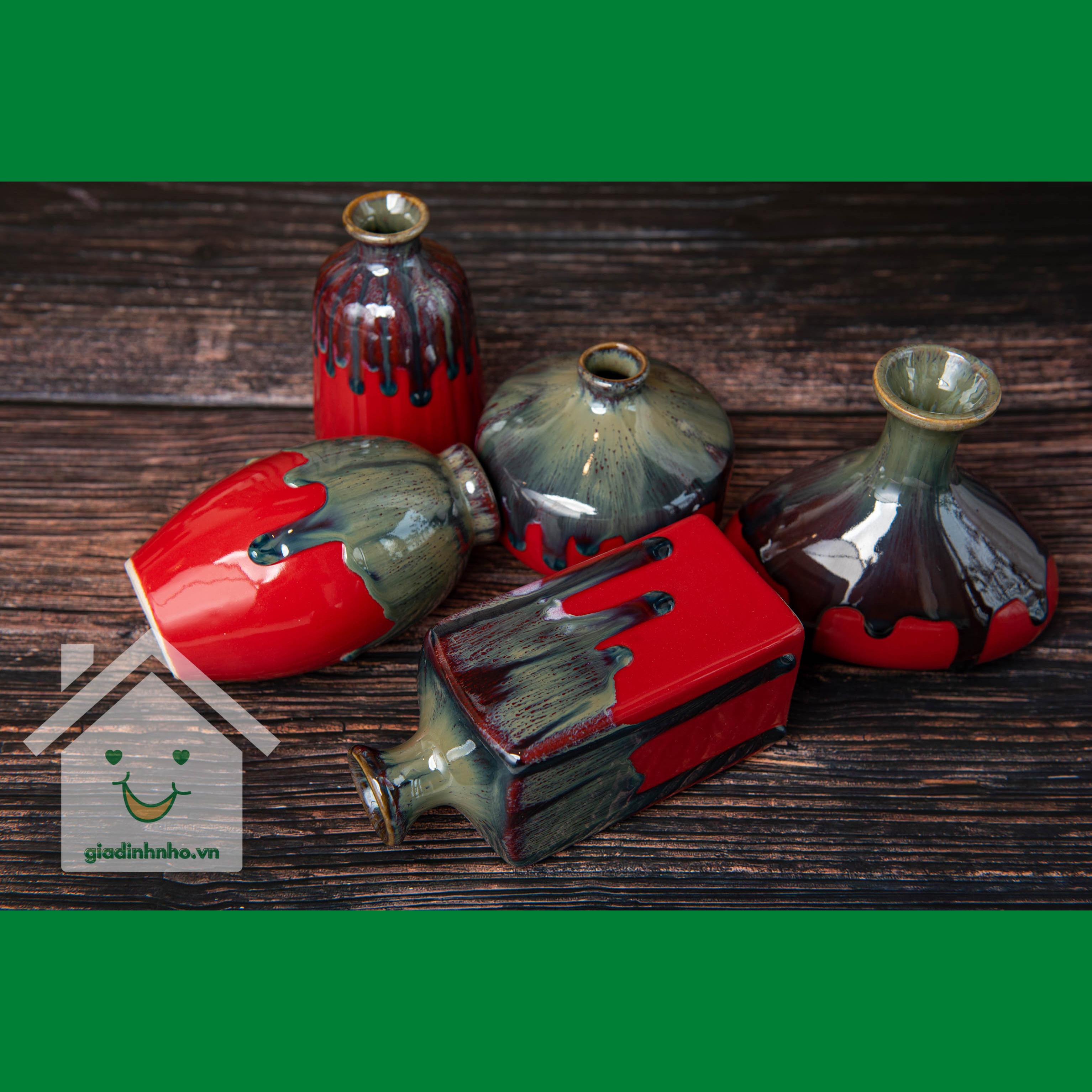 Set Lọ Mini Men Hỏa Biến Đỏ
