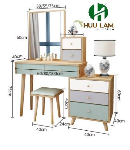 Bàn trang điểm hiện đại gỗ công nghiệp HLBP25