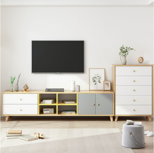 ✅Kệ tivi gỗ hiện đại cho phòng khách 1m8 giá rẻ HCM - HLKTV012