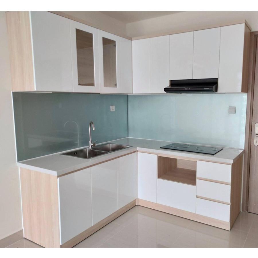 Mẫu tủ bếp gỗ công nghiệp hiện đại cho căn hộ HLTB-002