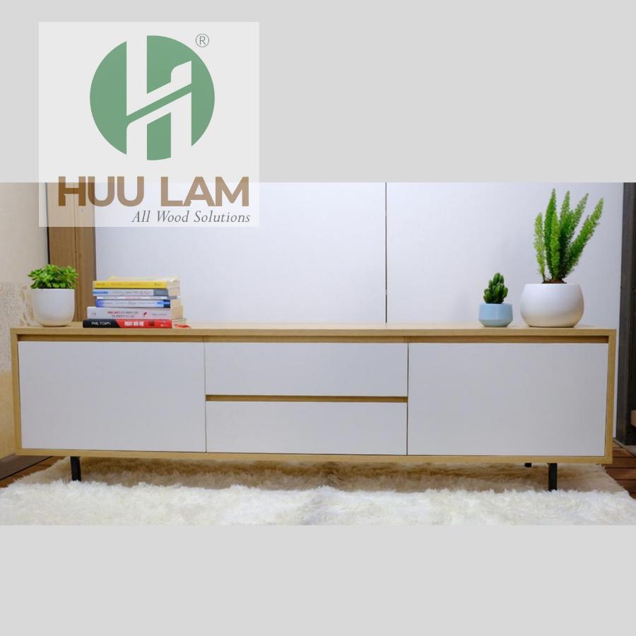 Kệ tivi gỗ hiện đại cho phòng khách HLTV015 | FREESHIP HCM