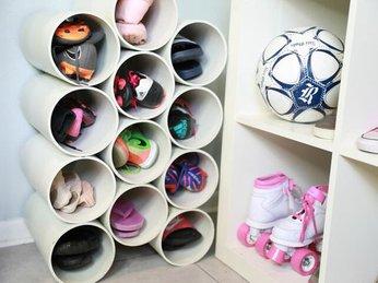 Những ý tưởng kệ giày DIY thông minh