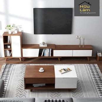 Combo nội thất gỗ cho phòng khách hiện đại CBPK4