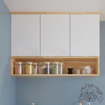 Tủ Bếp Gỗ Treo Tường 3 Cánh Thiết Kế Đơn Giản 1m2