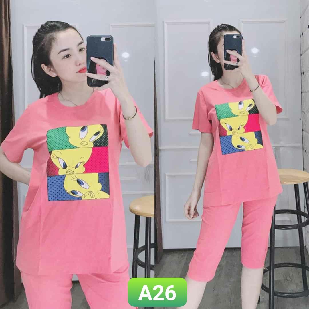 Order Đồ Bộ Thun Lững A26 - 3 size M, XL, XXL