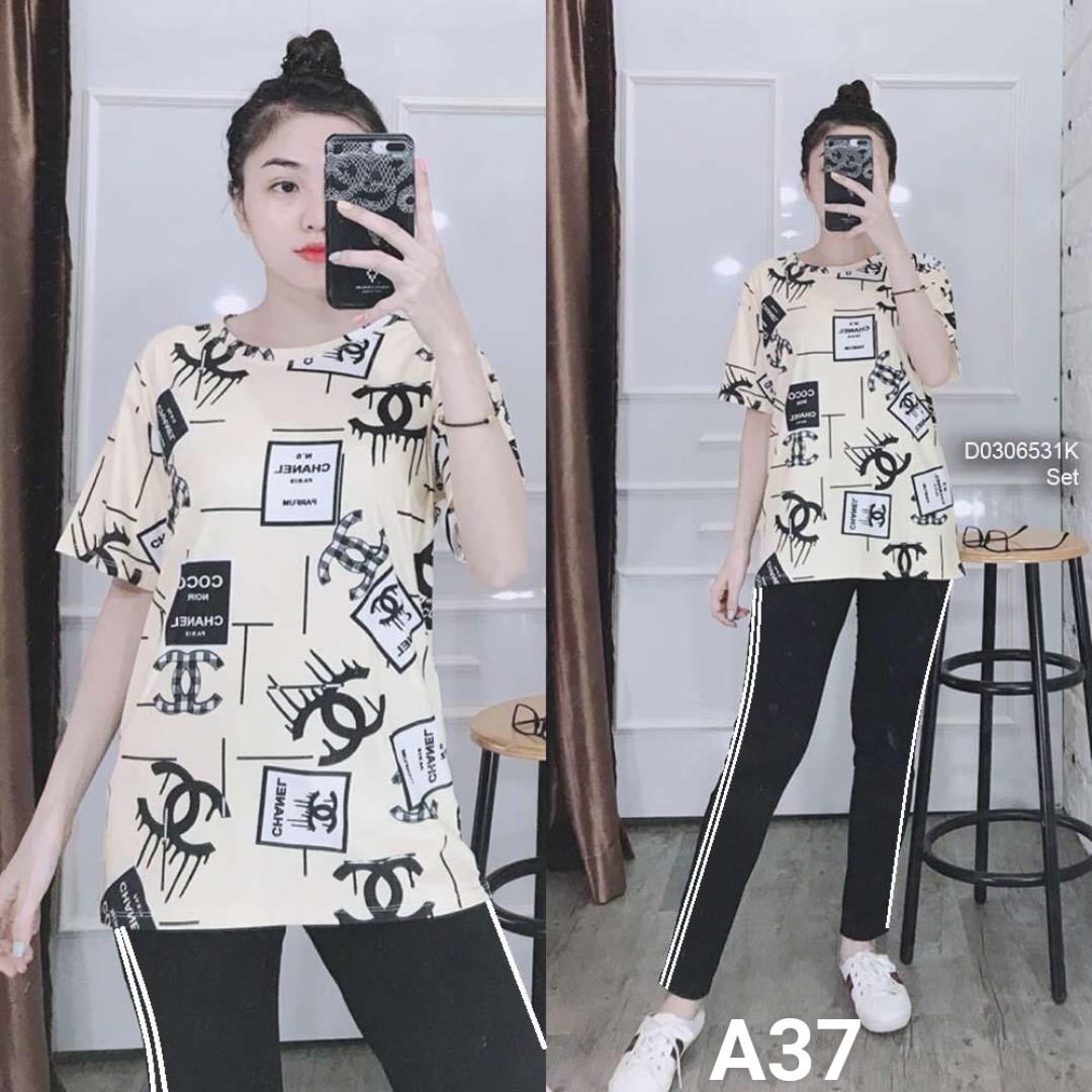 Đồ bộ nữ mặc nhà TNQD A37 - 4 size m xl xxl xxxl