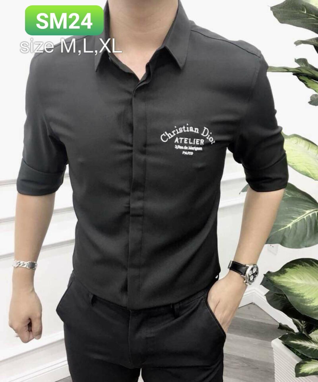 Order áo sơ mi sm24 - 3 size m l xl