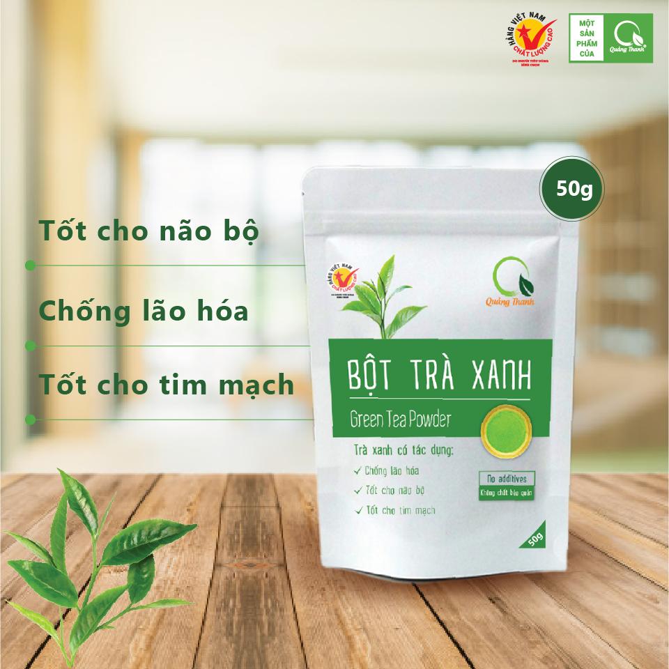 Bột Trà Xanh Quảng Thanh - Gói 50g - 100% SẠCH, nguyên chất