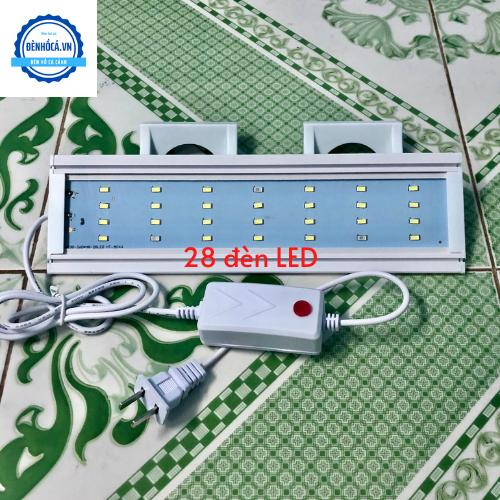 Đèn LED 30cm loại 4 dãy LED dành cho hồ cá cảnh, hồ thủy sinh 30cm