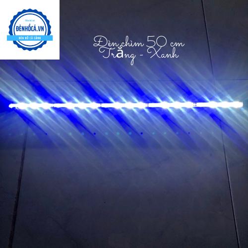 Đèn hồ cá Đèn Chìm dài 50cm đèn Led TRẮNG - XANH dành cho hồ cá, hồ thủy sinh