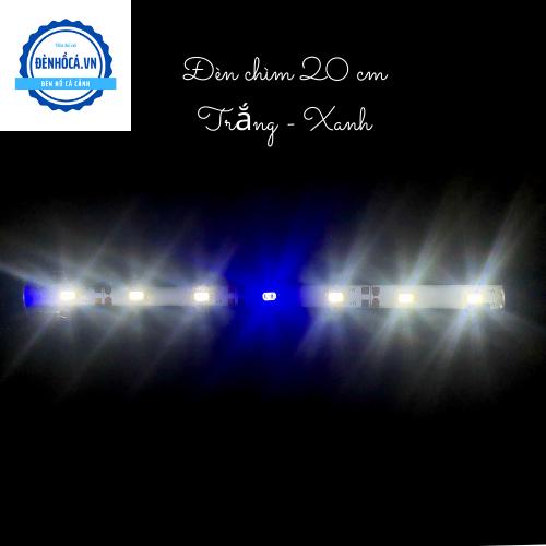 Đèn hồ cá Đèn Chìm dài 20cm đèn Led Trắng - Xanh dành cho hồ cá, hồ thủy sinh