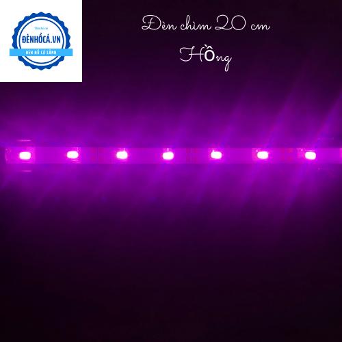 Đèn hồ cá Đèn Chìm dài 20cm đèn Led HỒNG dành cho hồ cá, hồ thủy sinh