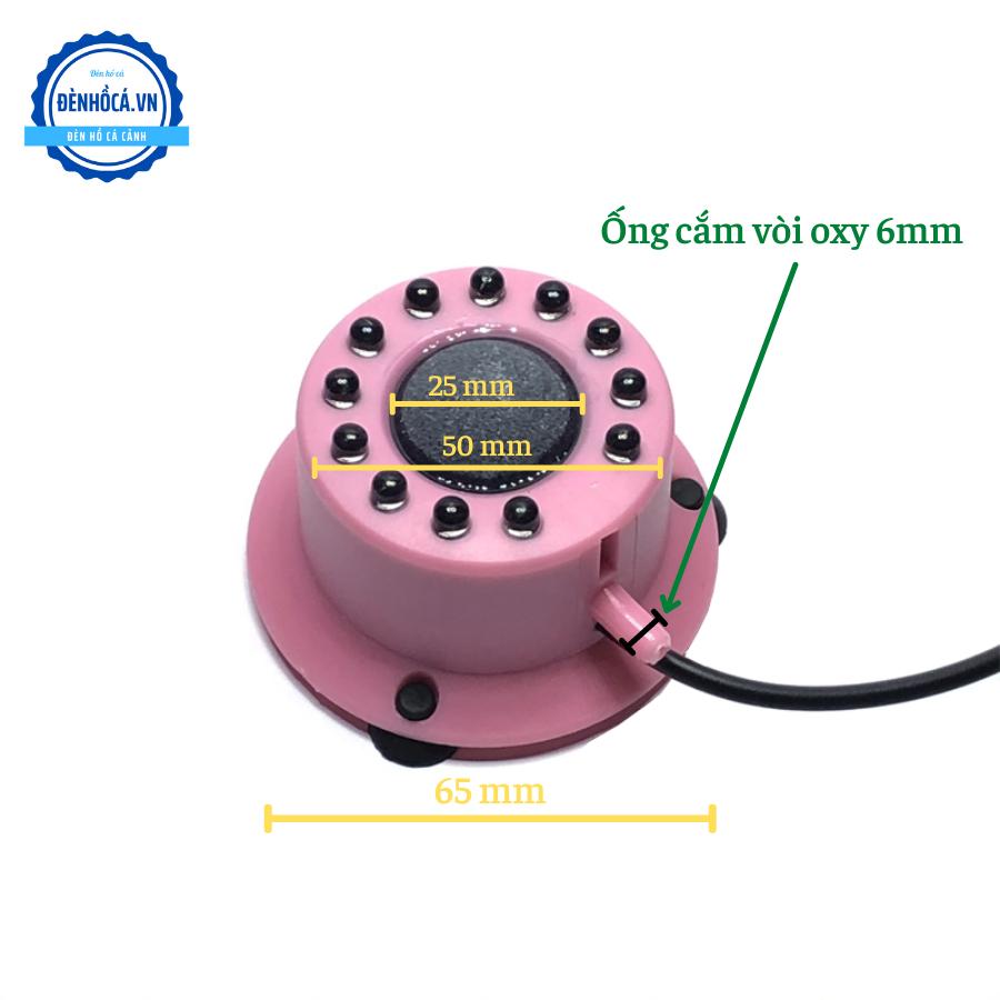Đèn chìm đổi màu tự động BBL có vòi cắm Oxy cho hồ cá mini