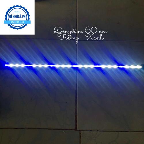 Đèn hồ cá Đèn Chìm dài 60cm đèn Led TRẮNG - XANH dành cho hồ cá, hồ thủy sinh