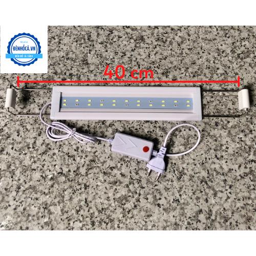 Đèn hồ cá mini 30 đến 40cm loại 2 dãy LED nhỏ gọn, tiết kiệm, an toàn