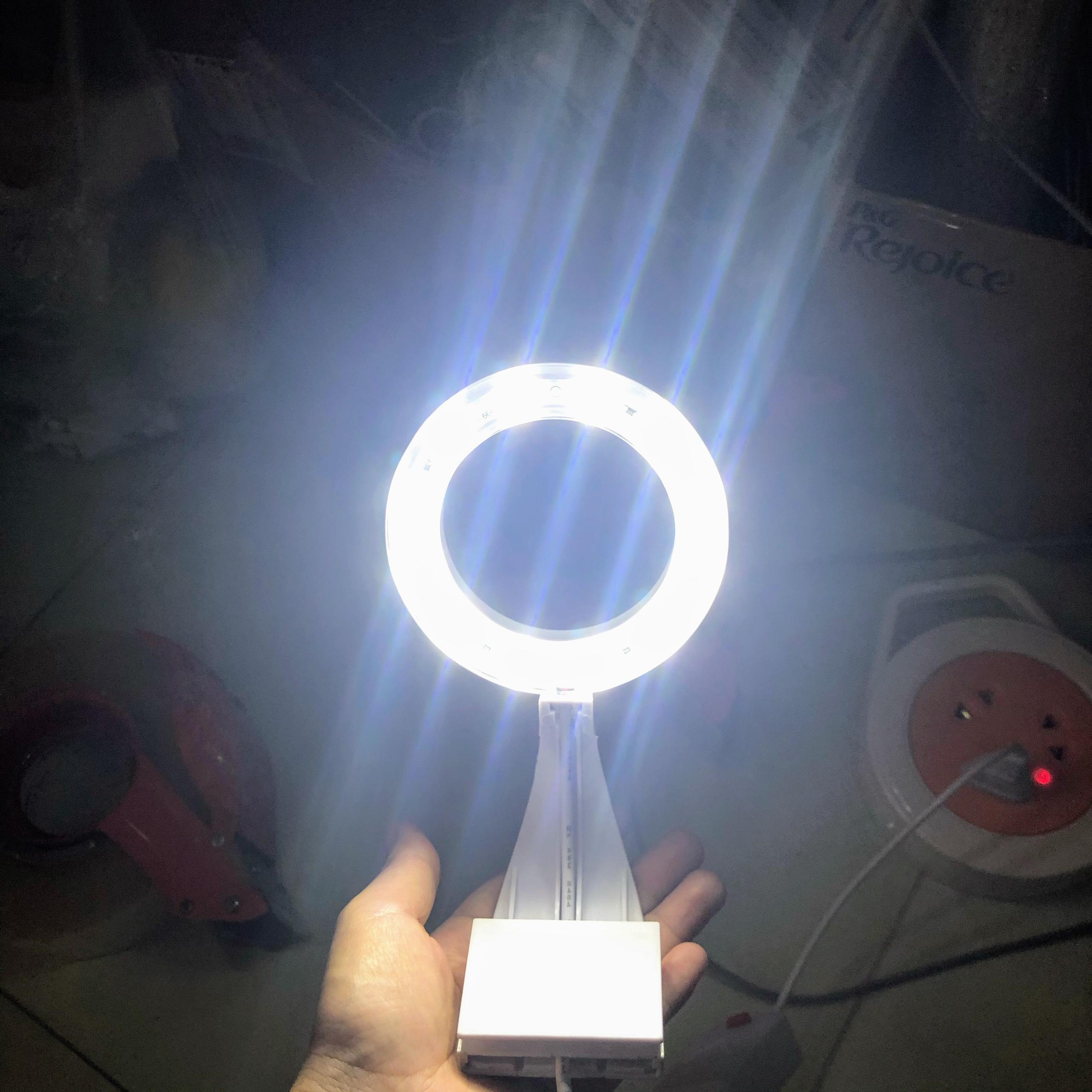 Đèn kẹp tròn ánh sáng trắng dành cho hồ cá, hồ thuỷ sinh mini