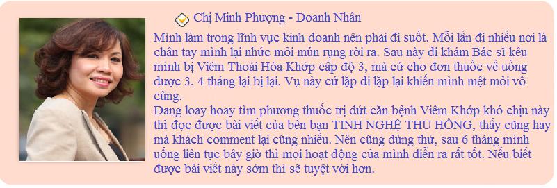 Khách hàng phản hồi về Tinh Nghệ Thu Hồng