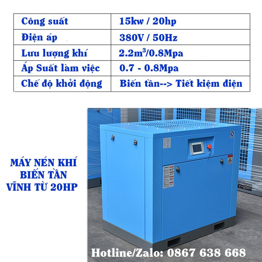 Máy Nén Khí Biến Tần Vĩnh Từ 20HP