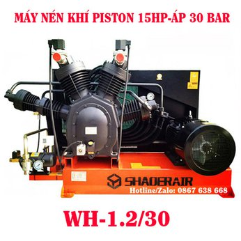 Máy Nén Khí Piston 15HP Áp 30 bar
