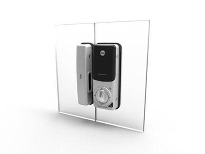 Khóa điện tử cửa kính YALE YDG 313 - Mã số, thẻ từ, remote