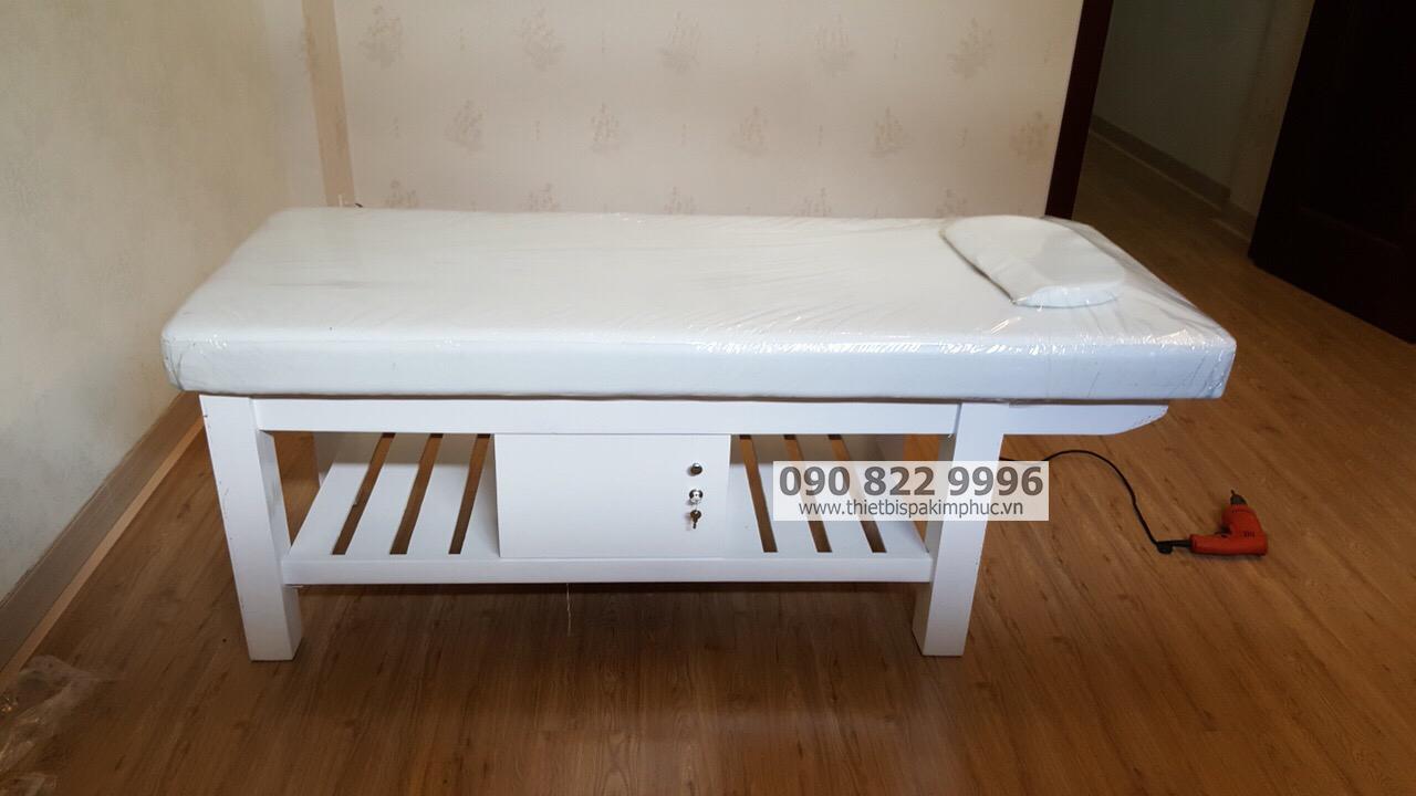 Giường Gỗ Massage Spa Thụt Đầu