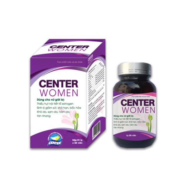 Điều hòa nội tiết tố cho nữ Center Women (50 viên/lọ)