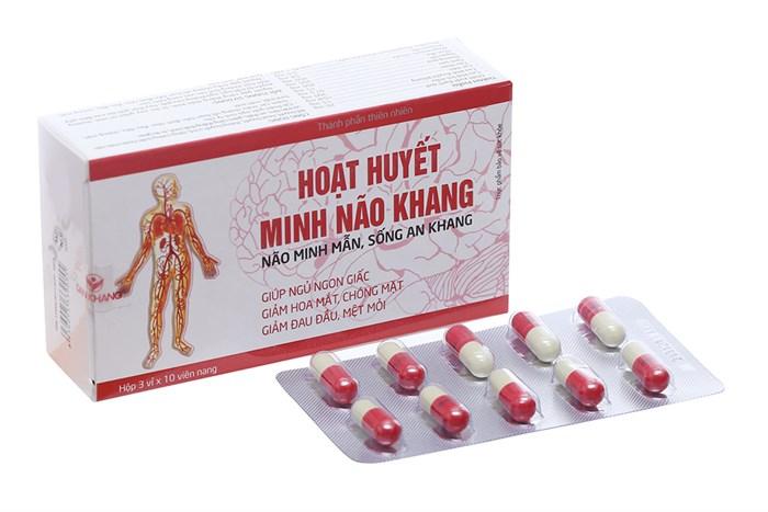 Hoạt Huyết Minh Não Khang ( Hộp 3 vỉ x 10 viên nang)