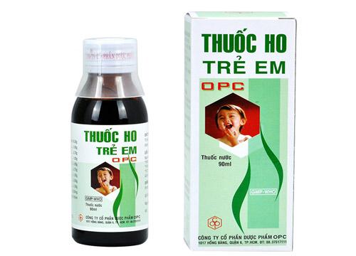 Thuốc ho trẻ em OPC trị các bệnh viêm nhiễm đường hô hấp