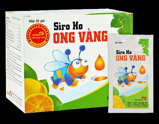 Siro Ho Ong Vàng Herbal Gói