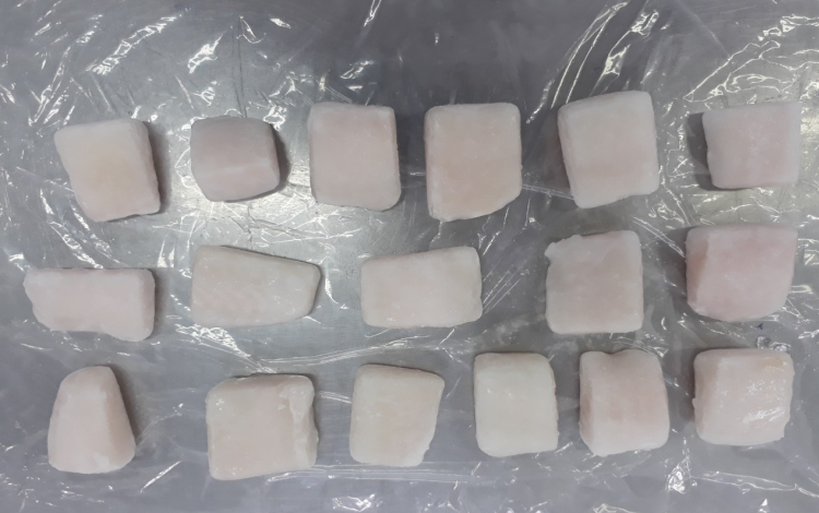 Frozen Pangasius Cubes, Well trimmed