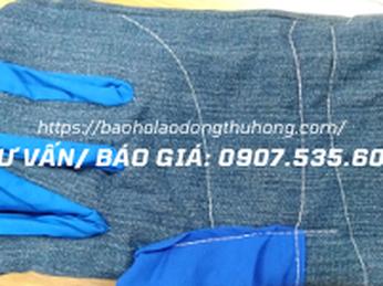 Găng tay vải Jean chịu nhiệt giá sỉ rẻ nhất HCM