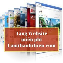 【Tặng Website miễn phí】☑️Không tốn 1 đồng cho 1 website chuyên nghiệp★