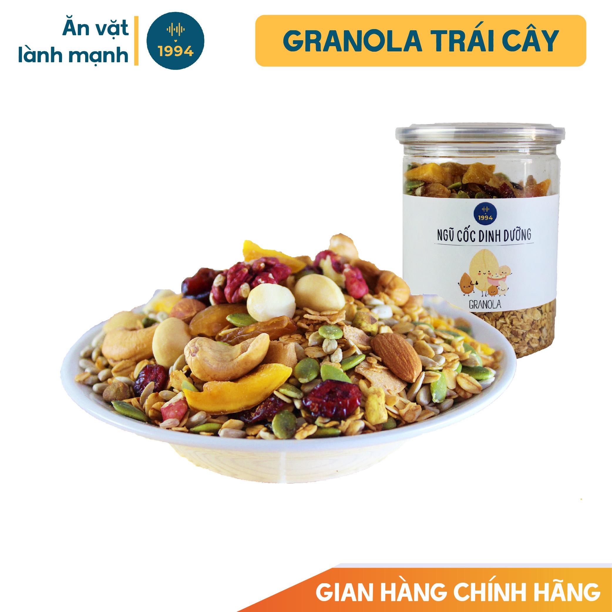Ngũ cốc ăn kiêng Granola trái cây 250G 0% đường 1994food