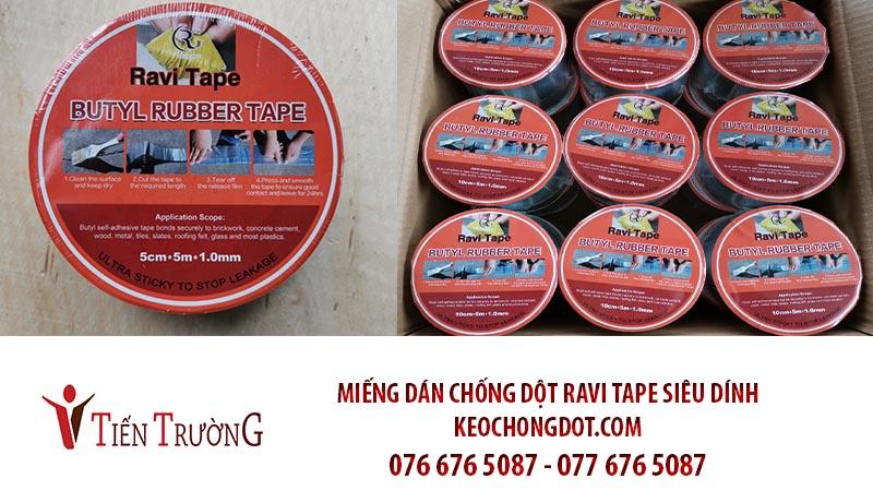 Miếng Dán Chống Dột RAVI siêu dính 5cm*5m*1.0mm  (1 thùng = 36 cuộn)