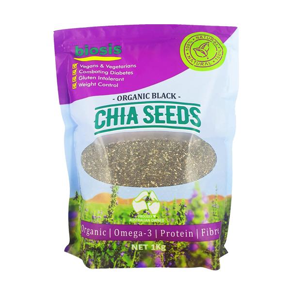 Hạt chia Úc 1kg Biosis Organic Black Chia Seeds