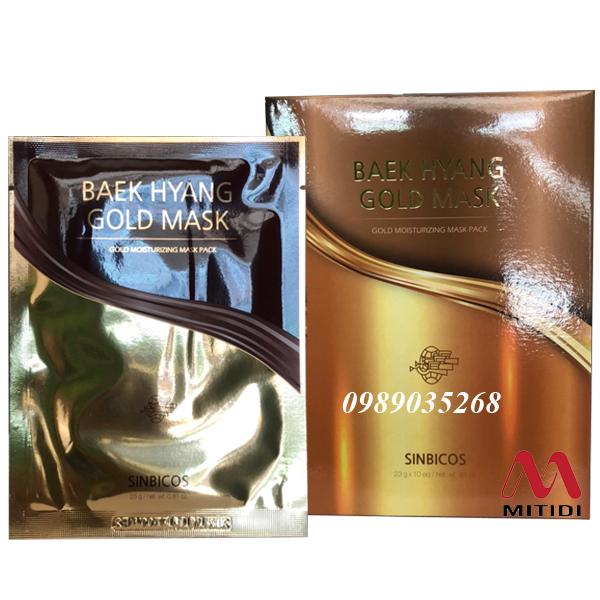 Mặt nạ vàng 24k Sinbicos Baek Hyang Gold Mask